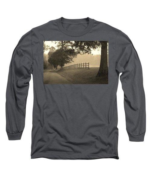 Foggy Fence Line Long Sleeve T-Shirt