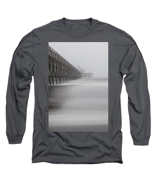 Foggy Folly Beach Pier Long Sleeve T-Shirt