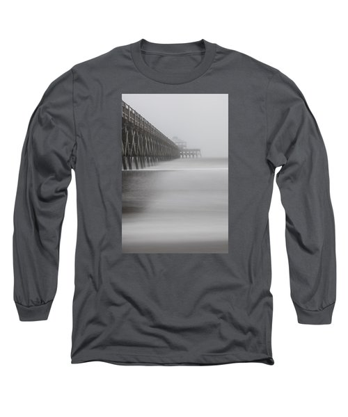 Foggy Folly Beach Pier Long Sleeve T-Shirt