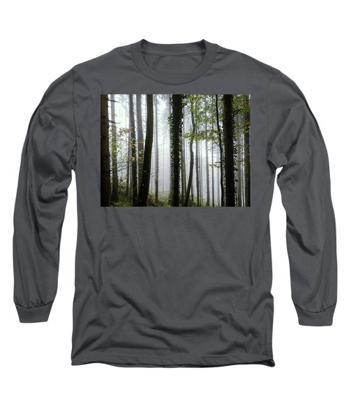 Long Sleeve T-Shirt featuring the photograph Foggy Forest by Chevy Fleet