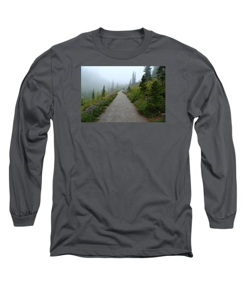 Long Sleeve T-Shirt featuring the photograph Foggy In Paradise by Lynn Hopwood