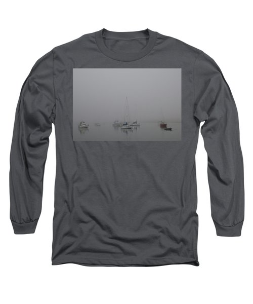 Waiting Out The Fog Long Sleeve T-Shirt by David Chandler
