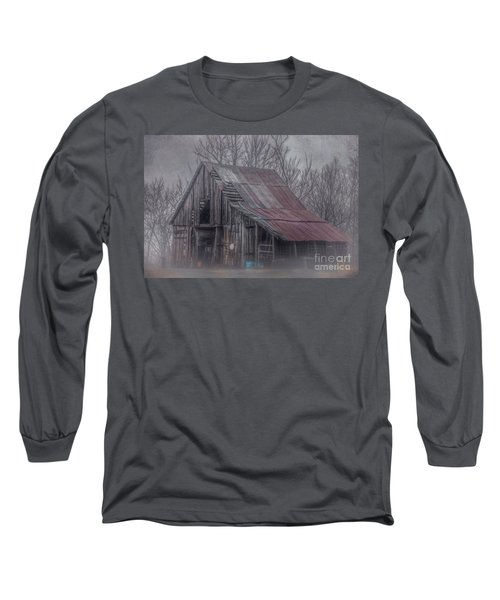 Foggy Morning Backroads Long Sleeve T-Shirt