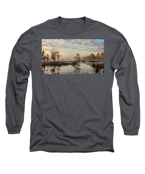 Foggy Morning In The Pines Long Sleeve T-Shirt