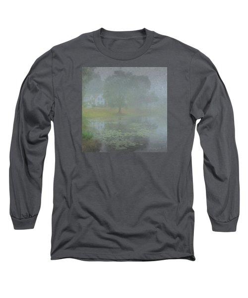 Foggy Morning On Pond Street Long Sleeve T-Shirt