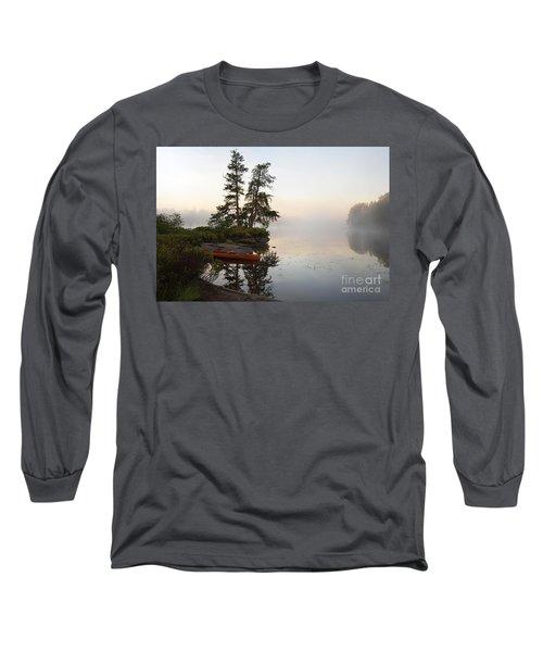 Foggy Morning On The Kawishiwi River Long Sleeve T-Shirt