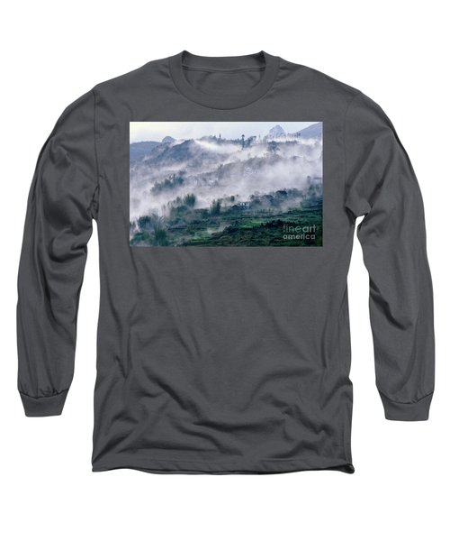 Foggy Mountain Of Sa Pa In Vietnam Long Sleeve T-Shirt