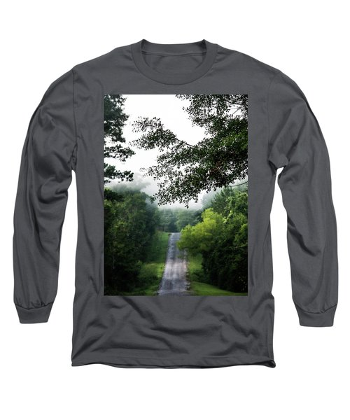 Long Sleeve T-Shirt featuring the photograph Foggy Road To Eternity  by Shelby Young