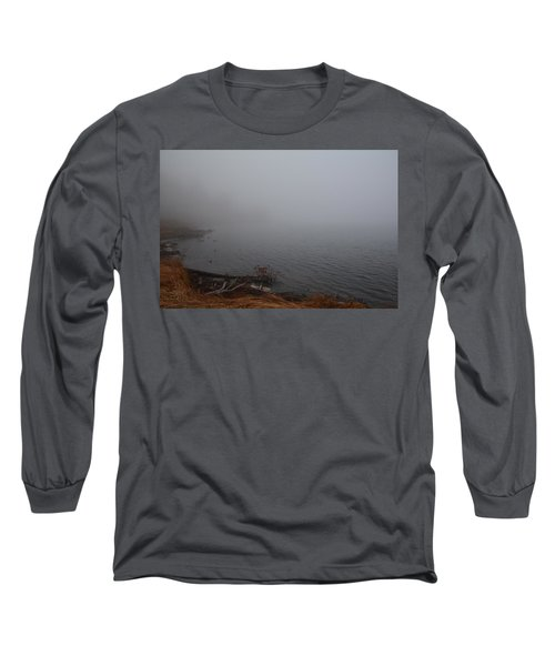 Long Sleeve T-Shirt featuring the photograph Foggy Shore by Jenessa Rahn