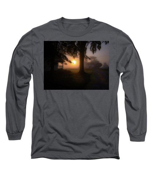 Foggy Sunrise Long Sleeve T-Shirt