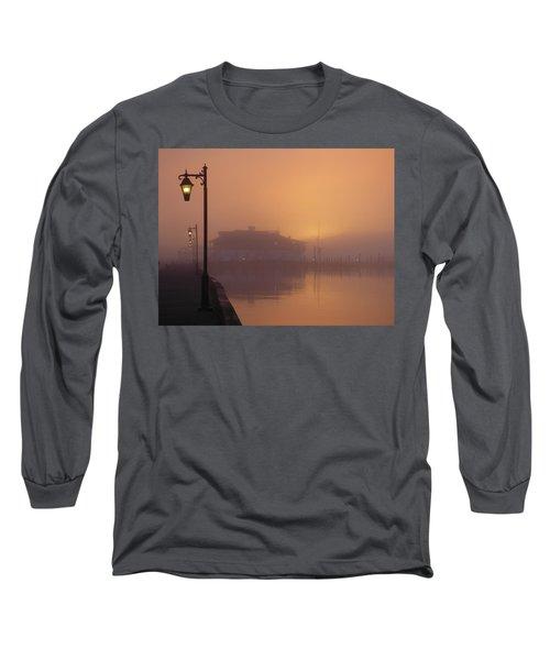 Foggy Sunrise Long Sleeve T-Shirt by Robert Henne