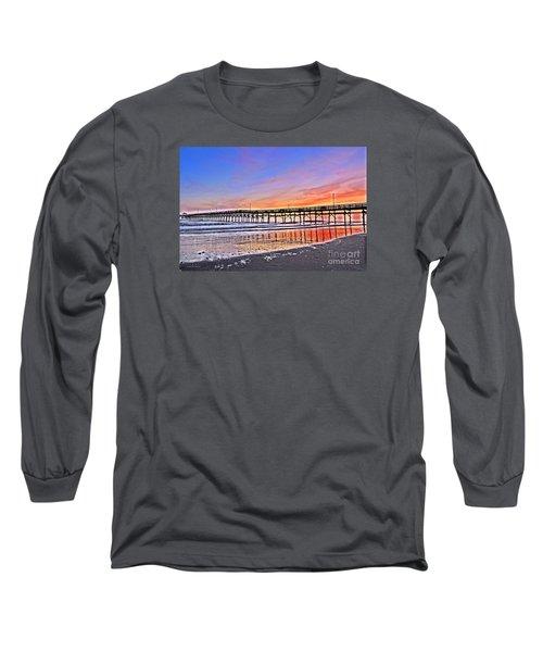 Foggy Sunset Long Sleeve T-Shirt by Shelia Kempf