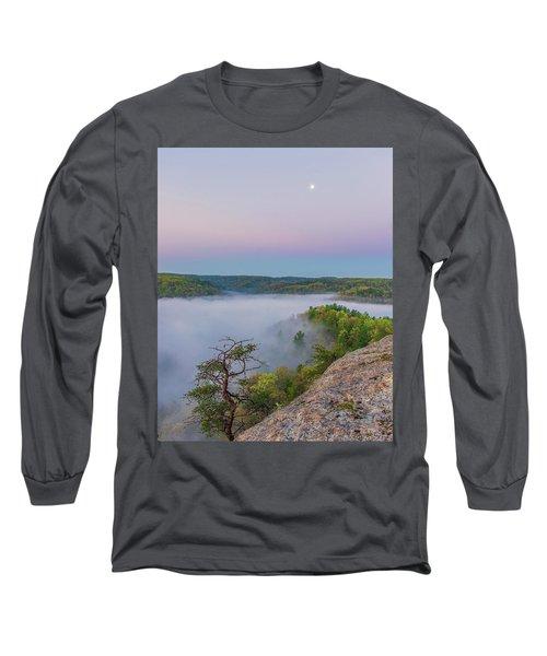 Foggy Valley Long Sleeve T-Shirt by Ulrich Burkhalter