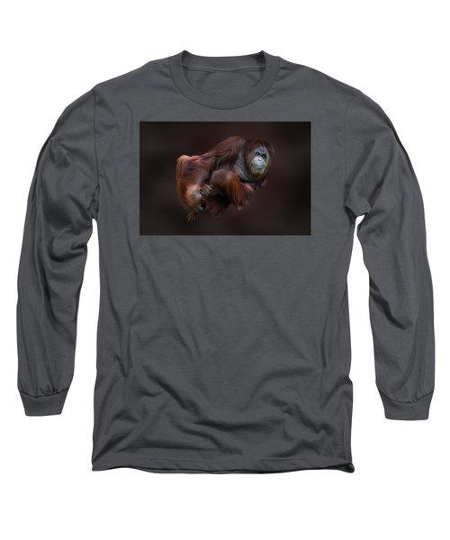 Folded Orangutan Long Sleeve T-Shirt