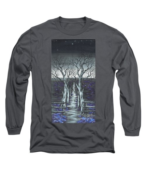 Long Sleeve T-Shirt featuring the painting Follow The Stars by Kenneth Clarke