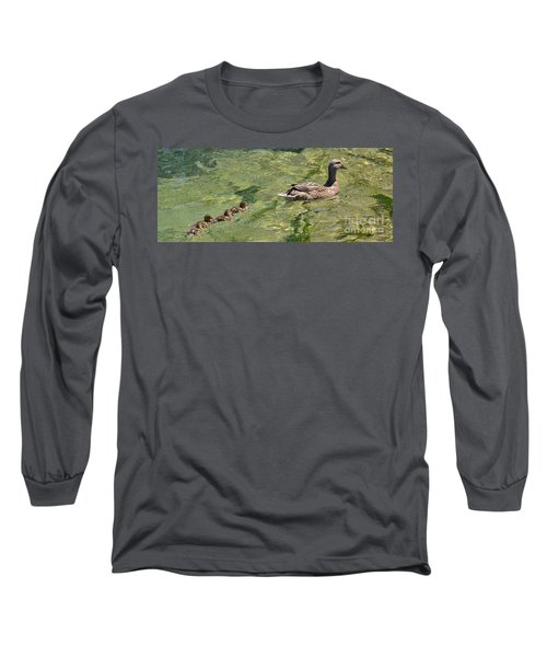 Long Sleeve T-Shirt featuring the photograph Following Mom by Pamela Blizzard