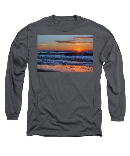 Folly Beach Sunrise Long Sleeve T-Shirt by RC Pics