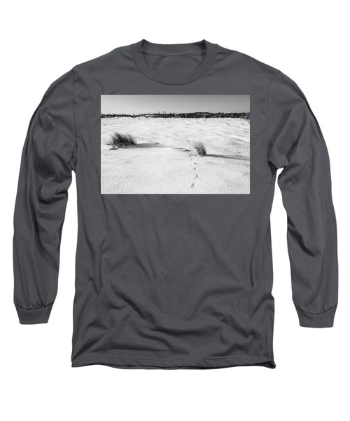 Footprints In The Snow I Long Sleeve T-Shirt