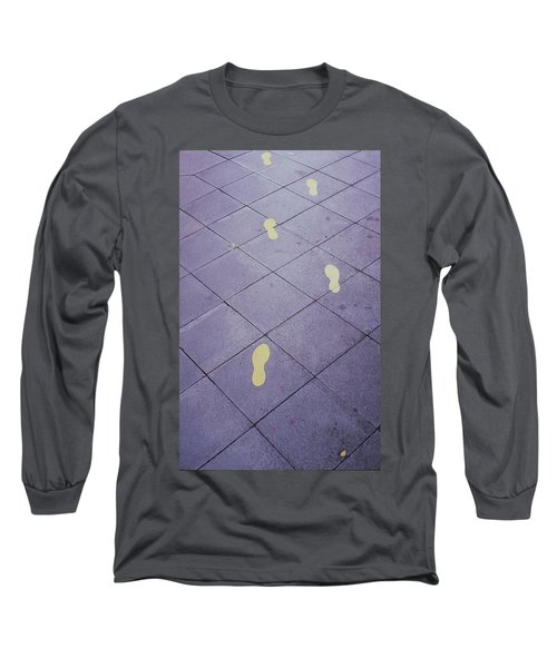 Footsteps On The Street Long Sleeve T-Shirt