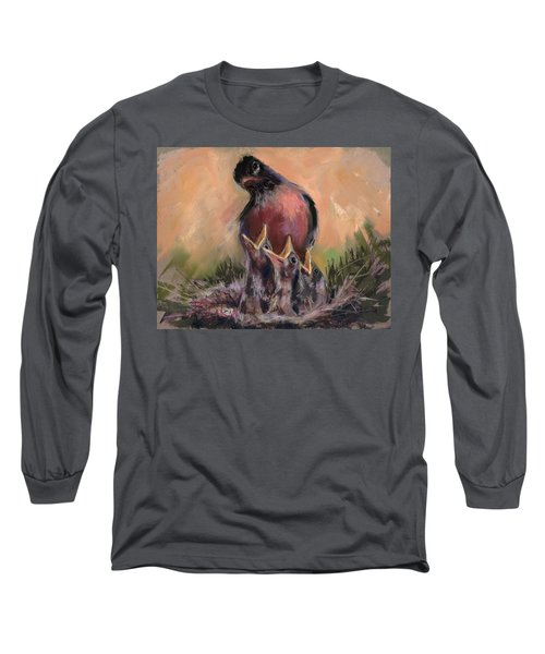Long Sleeve T-Shirt featuring the painting For Crying Out Loud by Billie Colson