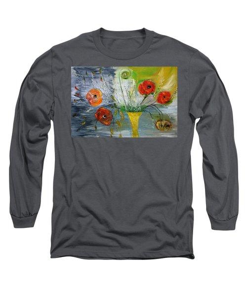 For Mom Long Sleeve T-Shirt by Evelina Popilian