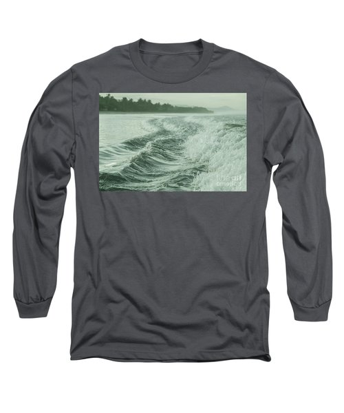 Forces Of The Ocean Long Sleeve T-Shirt by Iris Greenwell