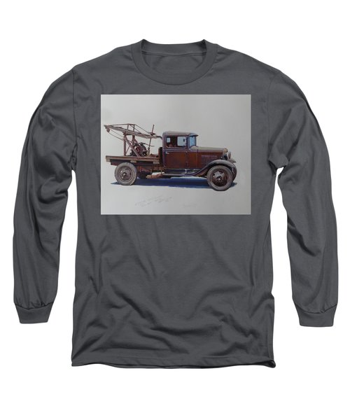 Ford A Type Wrecker. Long Sleeve T-Shirt by Mike  Jeffries