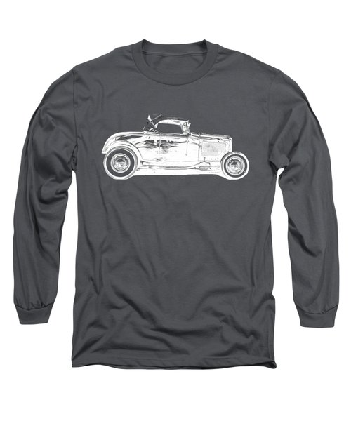 Ford Hot Rod Invert White Ink Tee Long Sleeve T-Shirt