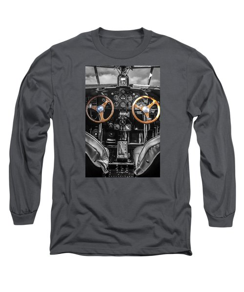 Ford Trimotor Cockpit Long Sleeve T-Shirt