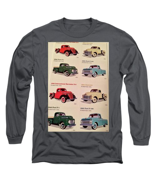 Ford Truck Stamps Long Sleeve T-Shirt by Caroline Stella