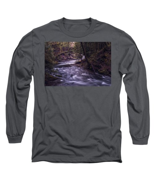 Long Sleeve T-Shirt featuring the photograph Forrest Bridge by Chris McKenna