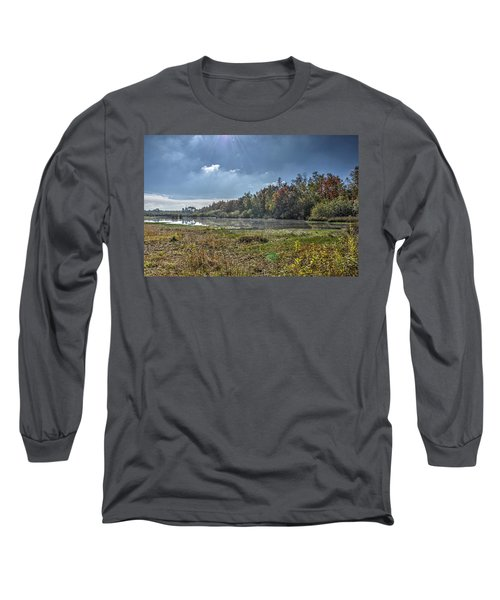 Forest Lake In Autumn Long Sleeve T-Shirt