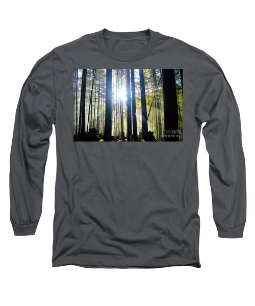 Forest Light Rays Long Sleeve T-Shirt