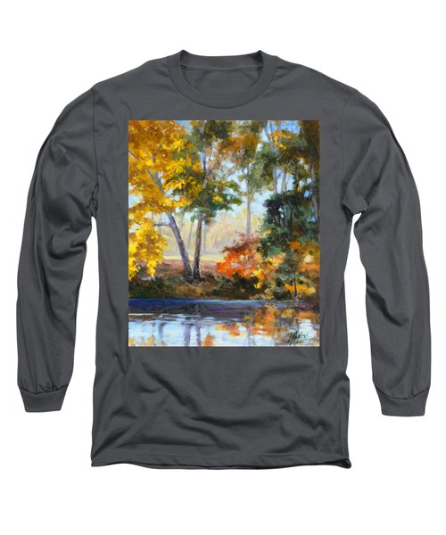 Forest Park - Autumn Reflections Long Sleeve T-Shirt by Irek Szelag