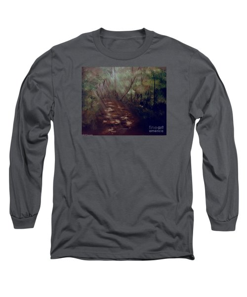 Forest Rays Long Sleeve T-Shirt by Denise Tomasura