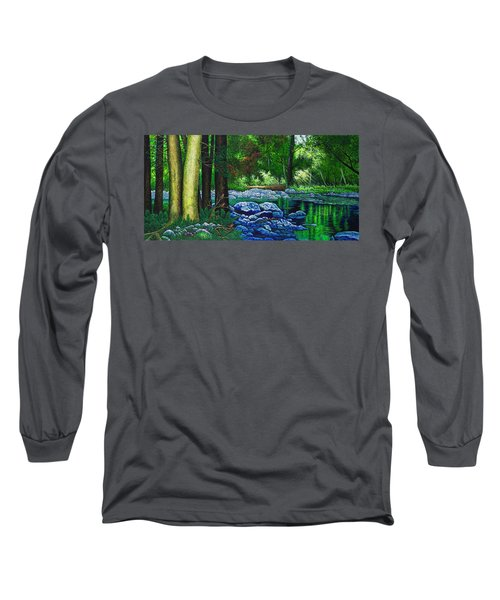 Forest Stream Long Sleeve T-Shirt by Michael Frank