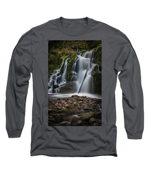 Long Sleeve T-Shirt featuring the photograph Forest Waterfall by Chris McKenna