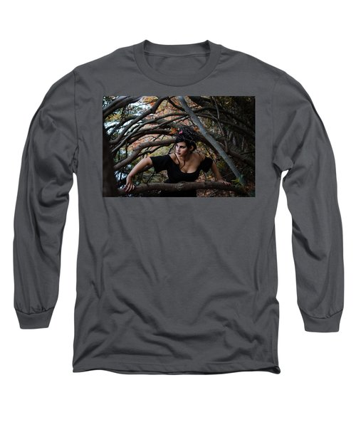Forest Witch Long Sleeve T-Shirt by Stefanie Silva