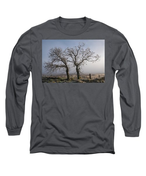 Long Sleeve T-Shirt featuring the photograph Forever Buddies Facing The Fog by Jeremy Lavender Photography
