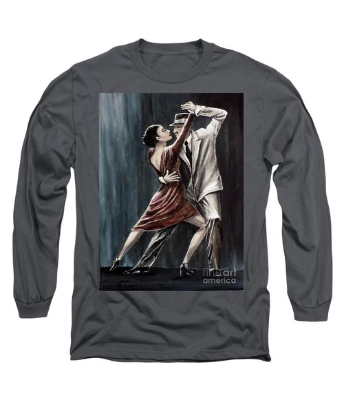 Long Sleeve T-Shirt featuring the painting Forever Tango by Judy Kirouac