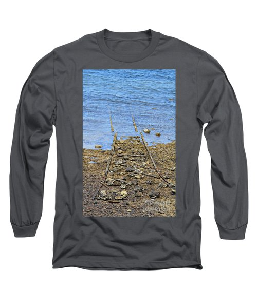 Long Sleeve T-Shirt featuring the photograph Forgotten Line by Stephen Mitchell