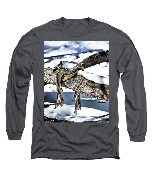 Forgotten Saddle Long Sleeve T-Shirt by Nicki McManus