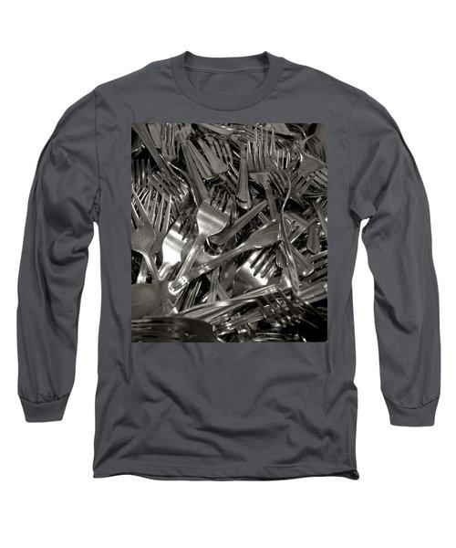 Forks Long Sleeve T-Shirt by Henri Irizarri