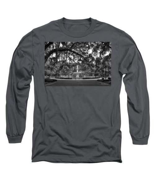 Forsyth Park Fountain 2 Savannah Georgia Art Long Sleeve T-Shirt by Reid Callaway