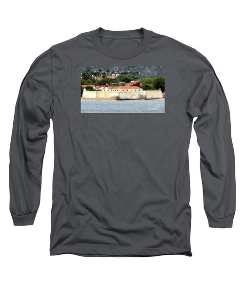 Fort At Sao Tome W. Africa Long Sleeve T-Shirt by John Potts