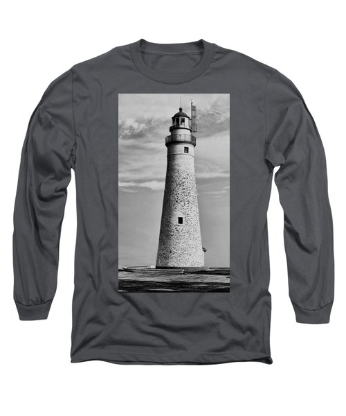 Fort Gratiot Lighthouse Long Sleeve T-Shirt by Pat Cook