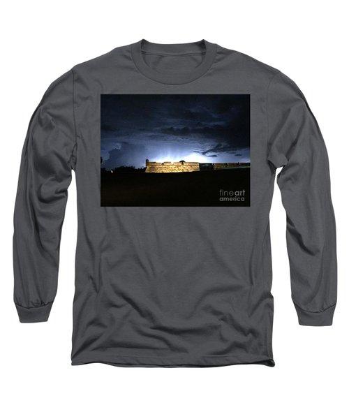 Lightening At Castillo De San Marco Long Sleeve T-Shirt