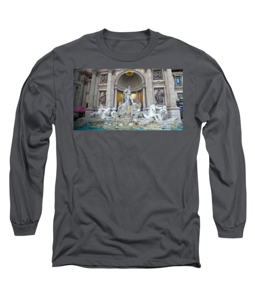 Forum Shops Statues At Ceasars Palace Long Sleeve T-Shirt