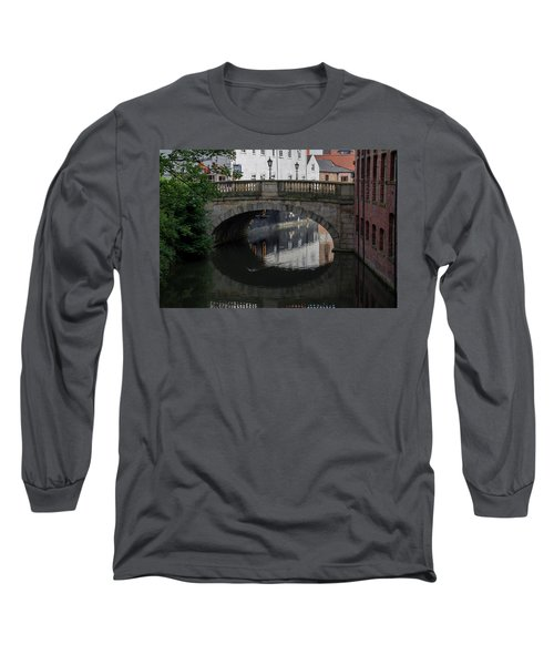 Long Sleeve T-Shirt featuring the photograph Foss Bridge - York by Scott Lyons