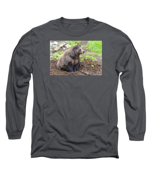 Found A Hole Long Sleeve T-Shirt by Harold Piskiel